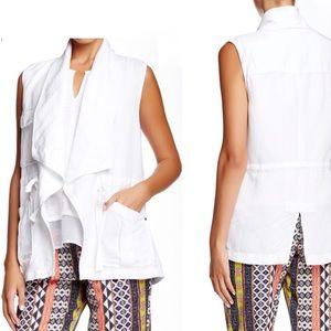 Sanctuary White linen Vest from anthropologie